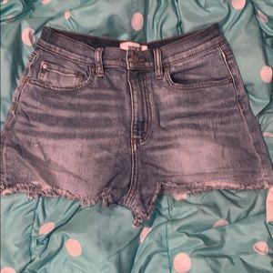Victoria's Secret pink high waisted cut off shorts